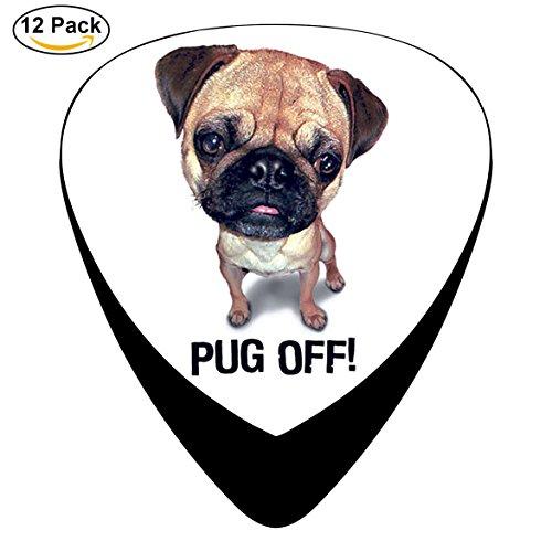 Pug Off Guitar Picks 12-Pack, Light, Medium and - H7y