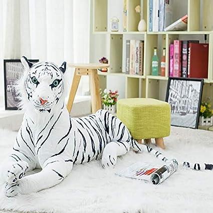 Almohada De Peluche De Animales De 30 A 120 Cm Tigre Blanco Gigante Juguetes De Felpa De Peluche Suave Animal Muñeca Tigre Amarillo Negro Leopardo Juguete Para Niños 4 A 120 Cm