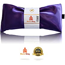 Blissful Being Silk Flax Seed Lavender scented Microwavable Eye Pillow, Amethyst
