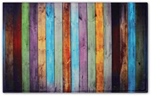 """Newcreativetop Colorful Wooden Pattern Kitchen Door Mats Rugs (20"""" x 31"""" inches)"""
