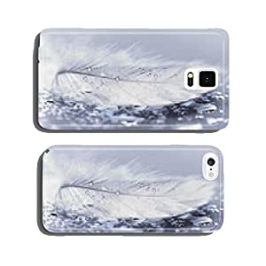 White feather with water drops cell phone cover case Samsung S5