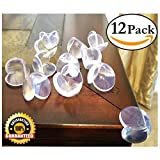 EliteBaby Clear Table Corner Guards, 12 Pack Cushioned Corner Protectors Childproofing Toddler, Baby, & kid Bumpers & Protectors with Adhesive, Great as Baby Shower GIFT