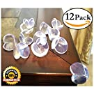 EliteBaby Baby Proofing Clear Table Corner Guards, 12 Pack I Bumper Guard Corner Protectors I Cushioned Childproofing Toddler I Double Sided Adhesive, Baby Shower Gift