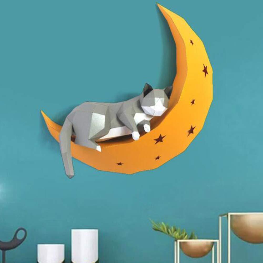 WXMYOZR Arte De La Pared De Papel Animal 3D Escultura Decoraci/ón Living Room Decor Colgar De La Pared Mural DIY Modelo Animal Escultura De Papel 3D Rompecabezas Educativos del Regalo