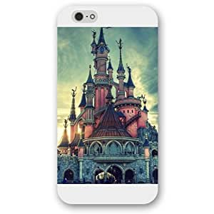 Customized White Hard Plastic Disney Castle Case Cover For Ipod Touch 5 Case, Only fit Iphone 5/5S