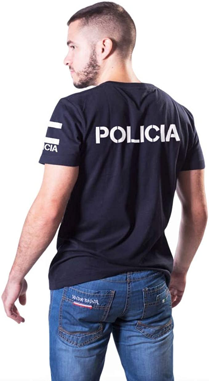Aircops Camiseta Policia Manga Corta Mujer