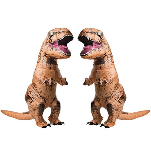 Halloween 2017 Couples Costume Ideas - Jurasic World T-Rex Adult Inflatable Costume 2 Pack Bundle Set