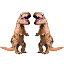 Jurasic World T-Rex Adult Inflatable Costume 2 Pack Bundle Set