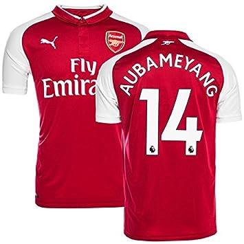 Taille Maillot Football Chaussettes Arsenal Short 2017 Kit Fc Ans 18 Aubameyang Enfant 12 Home Cm Puma 150
