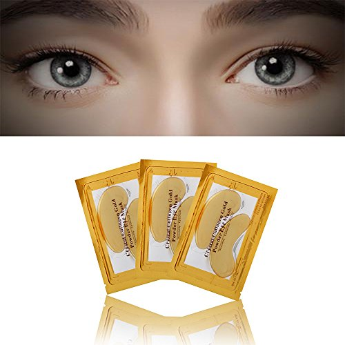 Euone Gold Eye Collagen Aging Wrinkle Under Crystal Gel Patch Anti Mask (A) (Beauty Makeup Set Piece 32)