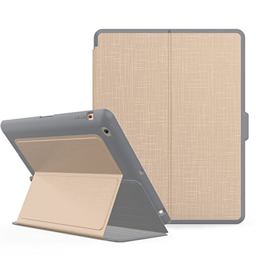 Qelus iPad 2 Case, iPad 3 Case, iPad 4 Case, Premium Leather Magnetic Stand Folio iPad Case Cover with Auto Wake/Sleep Protective Case for Apple iPad 2/3/4(9.7 inch released before 2013) (Gold) by Qelus
