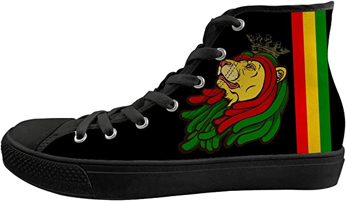 Classic Sneakers Unisex Adults Low-Top Trainers Skate Shoes Sunrise Roar of Lion