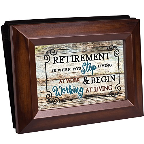 Retirement Stop Working Living Rich Walnut Wood 4 x 6 Table Top (Friendship Album)