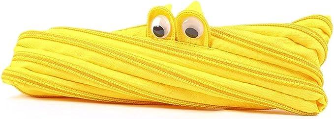 Nubstoer - Estuche para lápices con Cremallera, diseño de Monstruo, Color Amarillo: Amazon.es: Hogar
