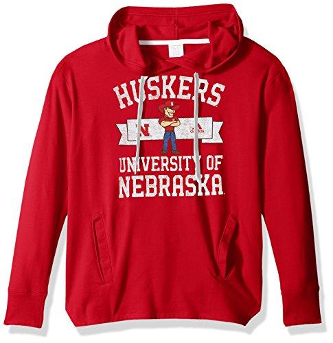 adidas NCAA Nebraska Huskers Adult Women Mascot Banner Arch Fleece Hood, Medium, Power ()