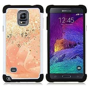 - gold dust glitter rose bling/ H??brido 3in1 Deluxe Impreso duro Soft Alto Impacto caja de la armadura Defender - SHIMIN CAO - For Samsung Galaxy Note 4 SM-N910 N910