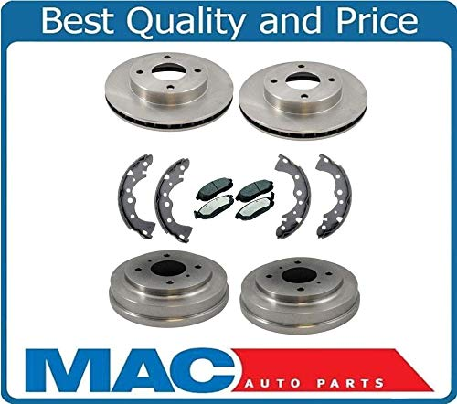 - New Front Rotors Brake Pads Rear Drums Shoes for Nissan Sentra 02-06 1.8L 4 Stud