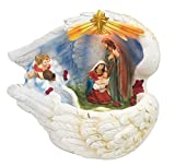 14 Inch Holy Family with Light and Water Fountain Feather Around Best Gift
