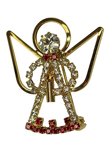 Bohemian Crystal Angel Jewelry Pins - Angel Christmas Pin