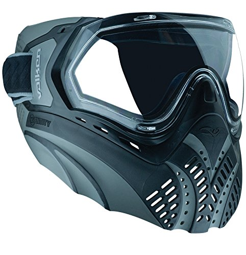 Valken Paintball Identity Goggle/Mask with Dual Pane Thermal Lens - Black/Grey by Valken
