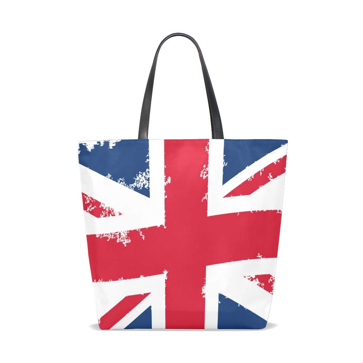 Hengpai Wave Storbritannien flagga tygväska handväska axelväska för kvinnor flickor Multi1