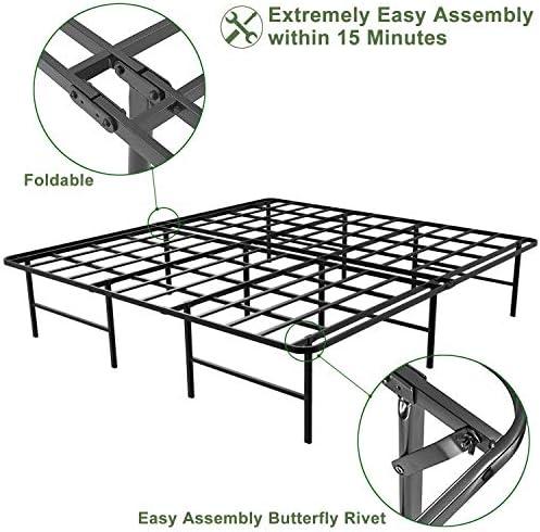 home, kitchen, furniture, bedroom furniture, beds, frames, bases,  bed frames 3 on sale 45MinST 16 Inch Platform Bed Frame/2 Brackets deals