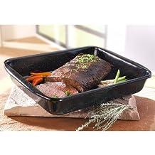 Riess professional oven pan, casserole, high, Ø 33 x 42 cm, Height: 7 cm, black