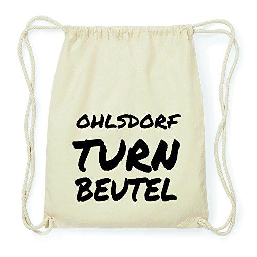 JOllify OHLSDORF Hipster Turnbeutel Tasche Rucksack aus Baumwolle - Farbe: natur Design: Turnbeutel