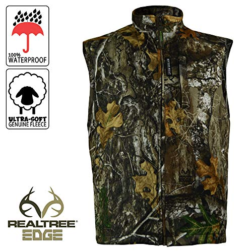 Rivers West Cold Canyon Waterproof Fleece Vest Realtree Edge Camo Large