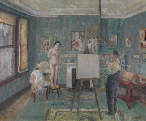 The High Quality Polyster Canvas Of Oil Painting 'Model In The Studio By Edgard Tytgat,20th Century' ,size: 10x12 Inch / 25x31 Cm ,this Amazing Art Decorative Prints On Canvas Is Fit For Foyer Decor And Home Gallery Art And Gifts