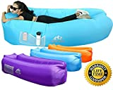 WEKAPO Inflatable Lounger Air Sofa Hammock-Portable,Water Proof& Anti-Air Leaking Design-Ideal Couch backyard Lakeside Beach Traveling Camping Picnics & Music Festivals