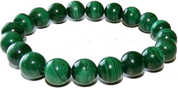 green beaded gemstone bracelet Genuine emerald bracelet gold /& malachite gift for her bracelet femme malachite bracelet May birthstone