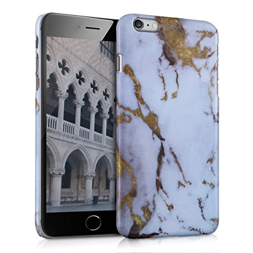 kwmobile Hard case Design marble for Apple iPhone 6 Plus / 6S Plus in white gold