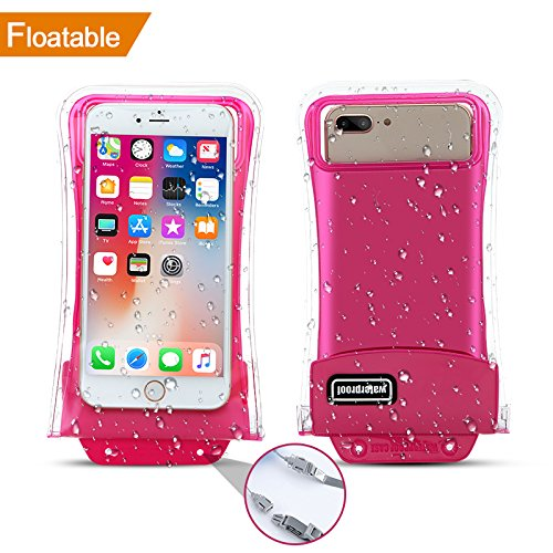 [Floatable] Waterproof Phone Pouch,Eficle Triple Insurance Self-floating Universal Waterproof Phone Case up to 6.3Inch Compatible with Iphone X/8/8p/7/7p/6/6p/Samsung Galaxy S7/S8 and more phones