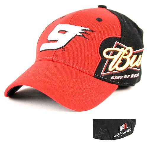NASCAR Kasey Kahne #9 Budweiser 2-Tone Racing Hat with Adjustable - Kahne Kasey Cap