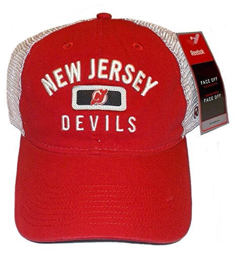(New Jersey Devils Soft Mesh Slouch Adjustable Reebok Hat - Osfa - EY63Z)