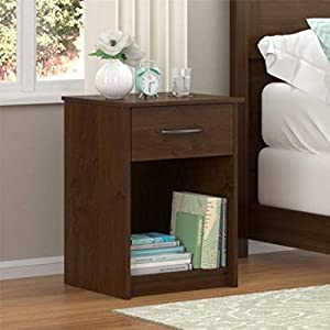 Mainstays Nightstand Side End Table, Multiple Finishes (Northfield Alder)