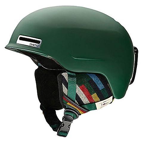 Smith Optics Maze Adult Ski Snowmobile Helmet - Matte Forest Woolrich / Large - Smith Maze Audio