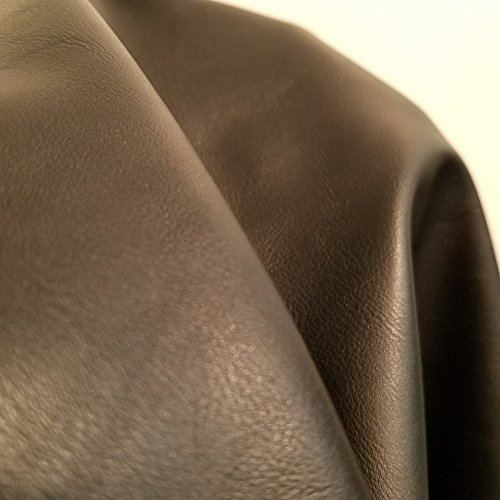an Leather by the yard Synthetic Pleather 0.9 mm Fullgrain look Calf Smooth Nappa 1 yards 52 inch wide x 36 inch long Soft smooth vinyl Upholstery (1 yard (36
