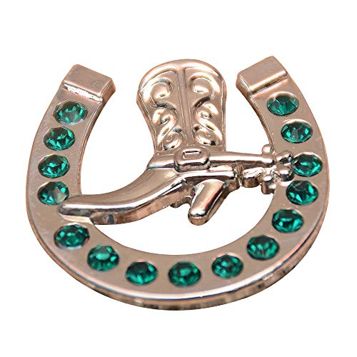 - Set of 8 Emerald Horseshoe Boots Rhinestone Conchos Crystals Headstall TACK