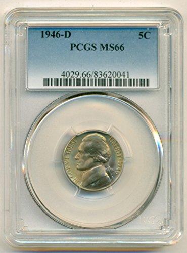 1946 D Jefferson Nickel MS66 PCGS