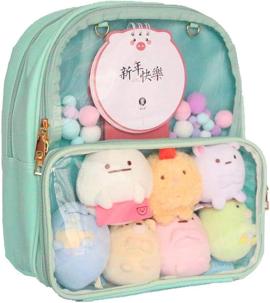Japanese Lolita Womens Transparent Clear Itabag Backpack Handbag Cute School Bag