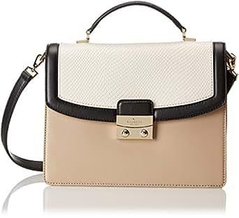 kate spade new york Salina Street Small Nadine Top Handle Bag,Cement/Black/Crimini,One Size