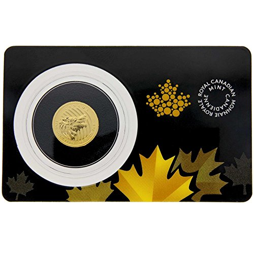 2015 Canada 1/10 oz Gold Howling Wolf .99999 BU in Assay ...