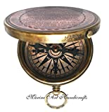 ''Robert Frost Poem'' Engraved Brass Compass with Embossed Needle & with Leather Case. C-3241