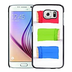 New Personalized Custom Designed For Samsung Galaxy S6 Phone Case For Colorful Brushes Phone Case Cover