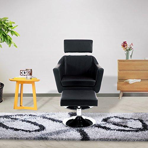 Cloud Mountain Modern Leisure TV Chair and Ottoman Office...
