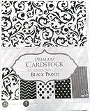 Black Prints Patterned Cardstock Paper 8.5x11 Pack - 25 Sheets