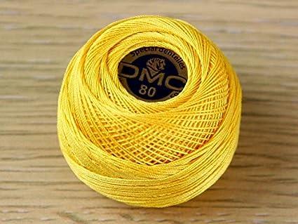DMC Special Dentelles Crochet No.80 Colour Yellow Colour Number 743
