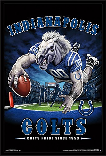 Trends International Framed Poster Indianapolis Colts - End Zone 17 24.25